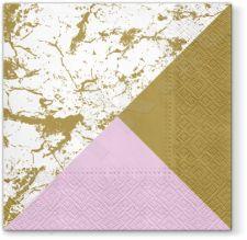 Servetėlės Marble Style Gold