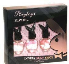Playboy Play It ... rinkinys moterims, (30ml Play It Lovely + 30ml Play It Sexy + 30ml Play It Spicy)