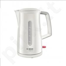 Bosch TWK3A011 Standard kettle, Plastic, Cream, 2400 W, 360° rotational base, 1.7 L