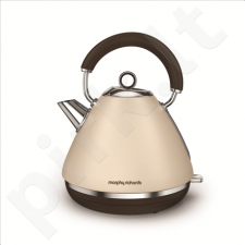 Morphy richards 102101 Standard kettle, Stainless steel, Sand, 3000 W, 360° rotational base, 1.5 L