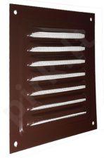 Grotelė metalinė (su tinkleliu, ruda) 300x300