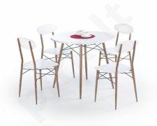 RECORD komplektas: apskritas stalas + 4 kėdės
