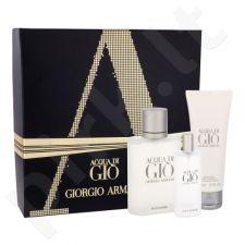 Giorgio Armani Acqua di Gio Pour Homme, rinkinys tualetinis vanduo vyrams, (EDT 100 ml + EDT 15 ml + dušo želė 75 ml)