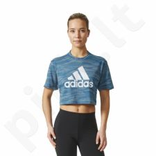 Marškinėliai treniruotėms adidas AEROKNIT CROP T W BQ5793