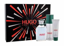 HUGO BOSS Hugo Man, rinkinys tualetinis vanduo vyrams, (EDT 125 ml + dezodorantas 150 ml + dušo želė 50 ml)