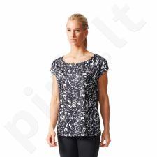 Marškinėliai treniruotėms adidas AOP TEE W AB5698