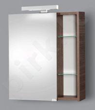 Pakabinama vonios spintelė su veidrodinėmis durimis, apšvietimu ir rozete Riva SV 60-11 bronze