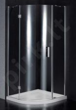 Dušo kabina BEF90 pilka be pado (tik stiklai)