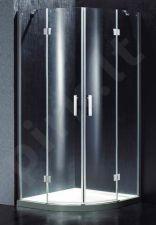 Dušo kabina BEF14 pilka be pado (tik stiklai)