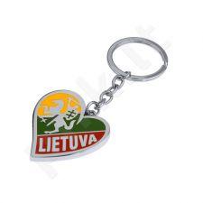 "Metalinis širdelės formos pakabukas ""Vytis - Lietuva"""