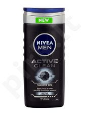 Nivea Men Active Clean, dušo želė vyrams, 250ml