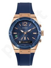 GUESS laikrodis 41mm silikonine apyranke mėlynas