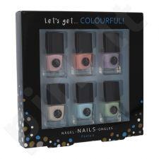 2K Colourful! Pastels, Let´s Get, rinkinys nagų lakas moterims, (nagų lakas 6 x 5 ml)