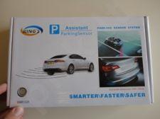 4-rių jutiklių parkavimo sistema su LED vaizduokliu