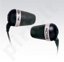KOSS THE Plug ausinės ausyse (juodos)