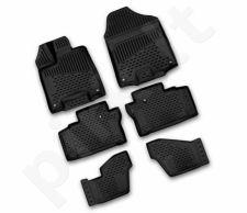Guminiai kilimėliai 3D HONDA Pilot 2016->, 6 pcs. /L28005