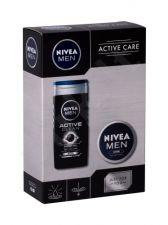 Nivea Men Active Clean, rinkinys dušo želė vyrams, (dušo želė 250 ml + Men Creme 75 ml)